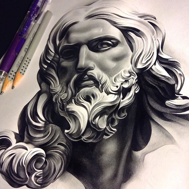 Jesus sketch by Dave Garcia
