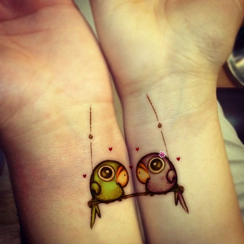 Great Love Birds tattoo!
