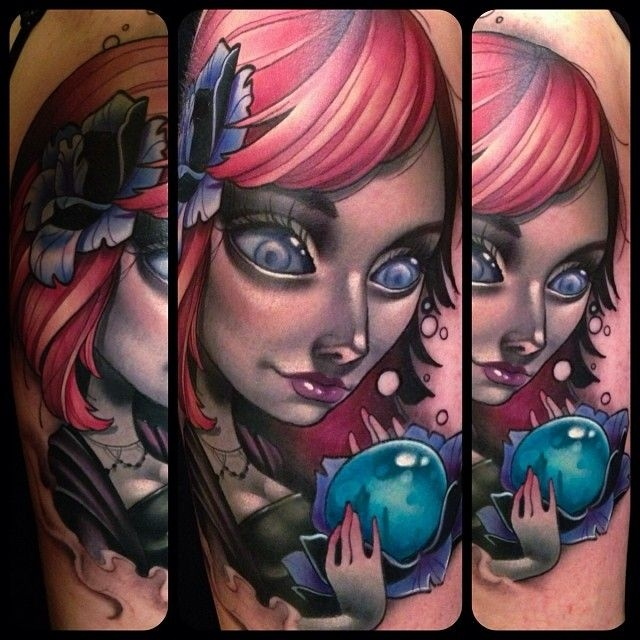 Is this a pinup girl? Done by Kelly Doty