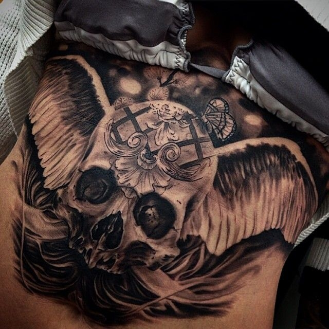 Awesome skull chest by Drew Apicture