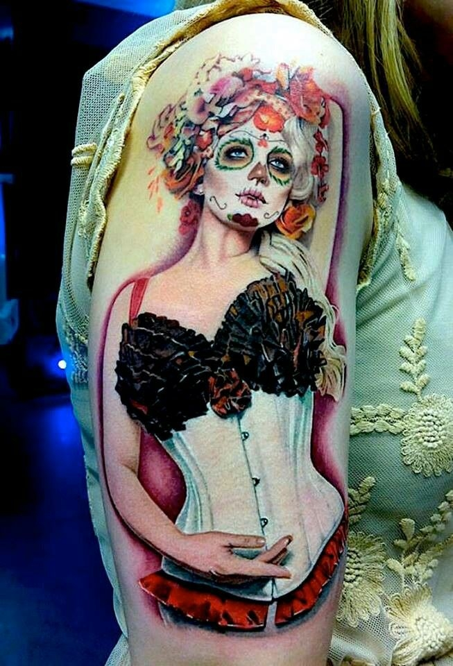 Day of the dead pin up girl