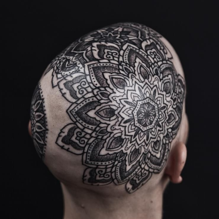 Cool black scalp design