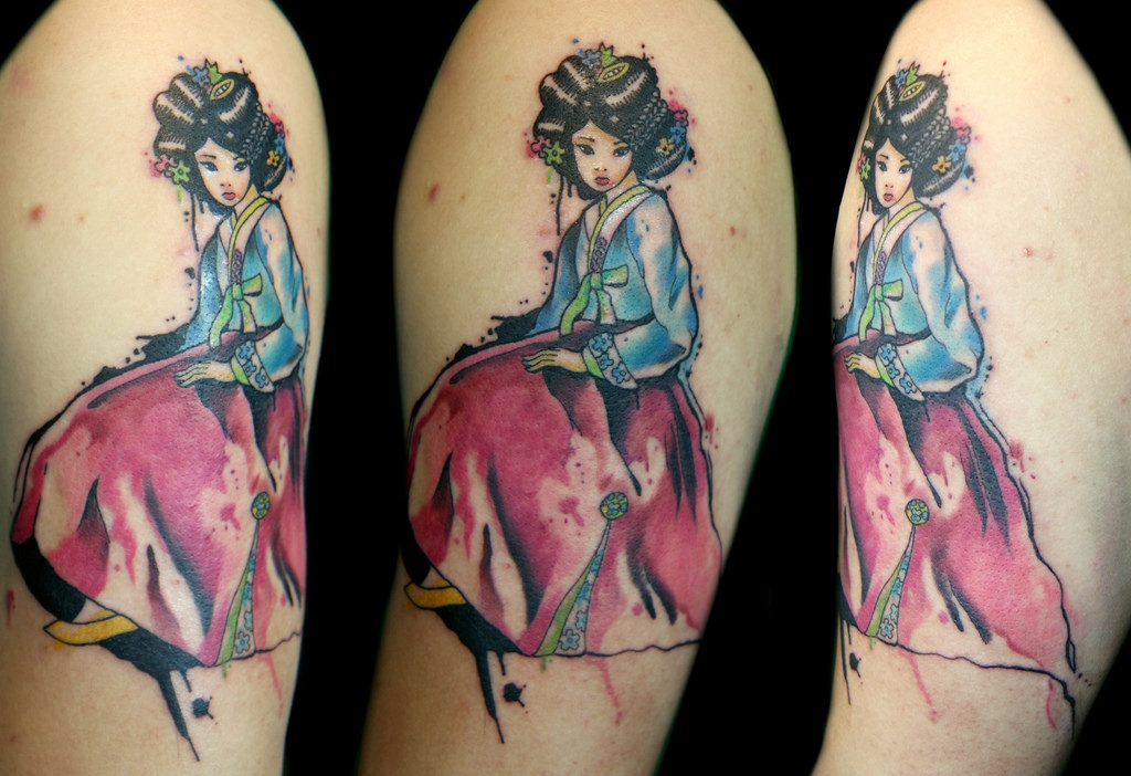 Geisha pinup girl by Deanna Wardin